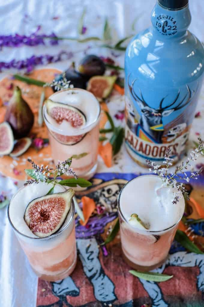 Celebrating Day of the Dead with Tequila Cazadores and this Spiced Fig Tequila Sour. #dayofthedead #ad #holajalapeno #tequila