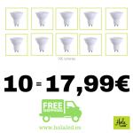 10 bombillas LED