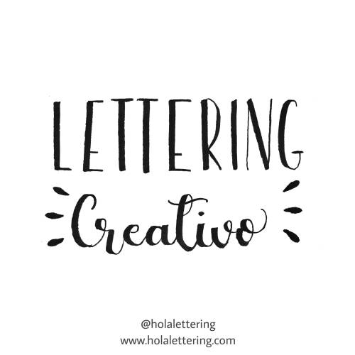 lettering con chispas o gotas