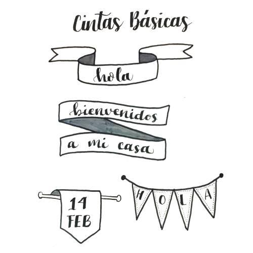 cintas básicas para lettering