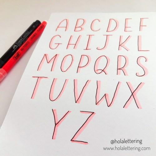 letras faciles con sombras