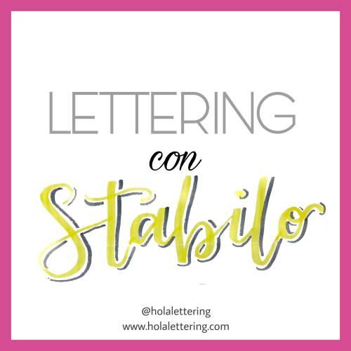 lettering stabilo boss