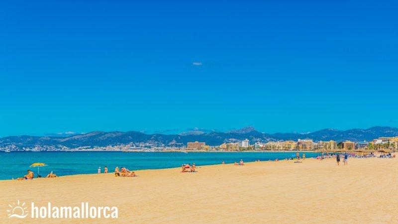 playa de palma strandzone auf mallorca