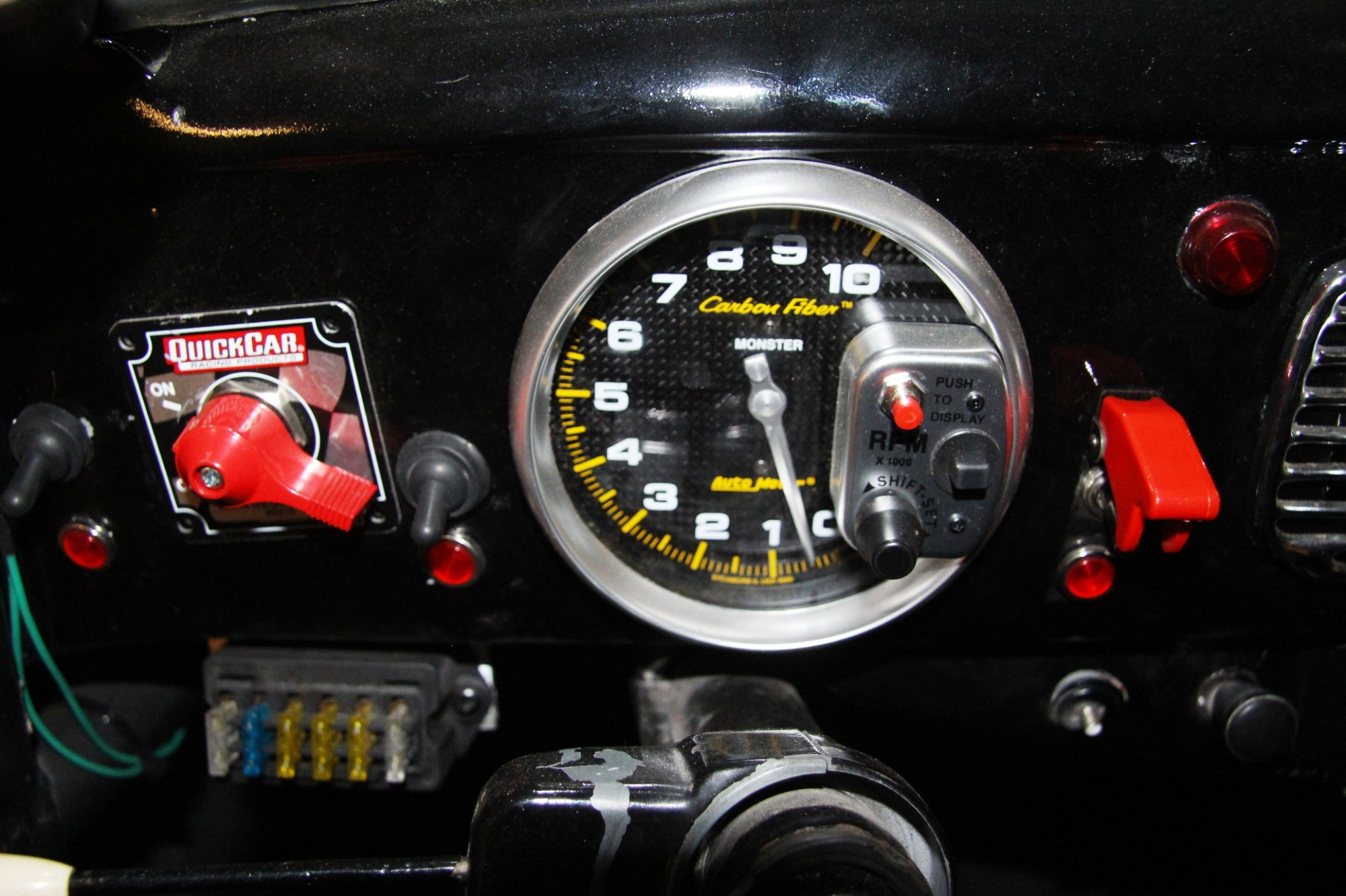 hight resolution of all carbon fiber devices tachometer
