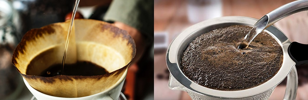 Holar - Blog - How to Make the Best Cup of Pour over Coffee (It's Easy) - Proper filter matters Paper Filters Metal Filters