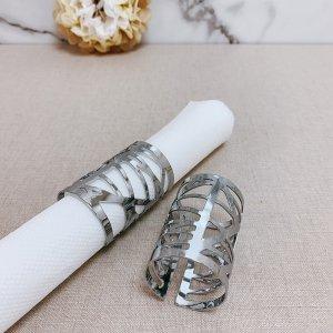 Branch Design Silver Napkin Ring