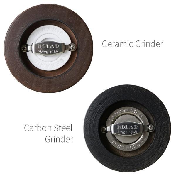 Ceramic burr mechanism of Holar wood manual salt pepper grinder_ARS