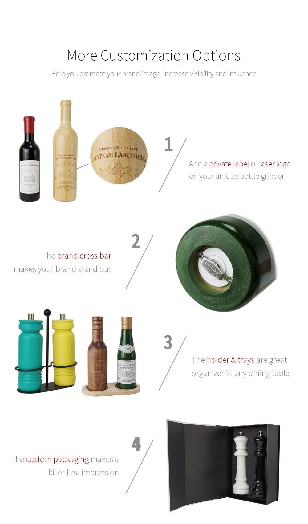 Customized options - Holar wine bottle series