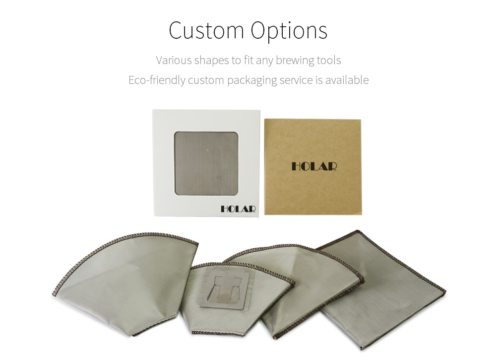 Customized stainless steel coffee filter