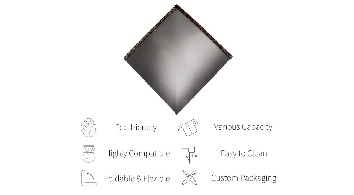 Features of Holar stainless steel coffee filter-PS-DC04