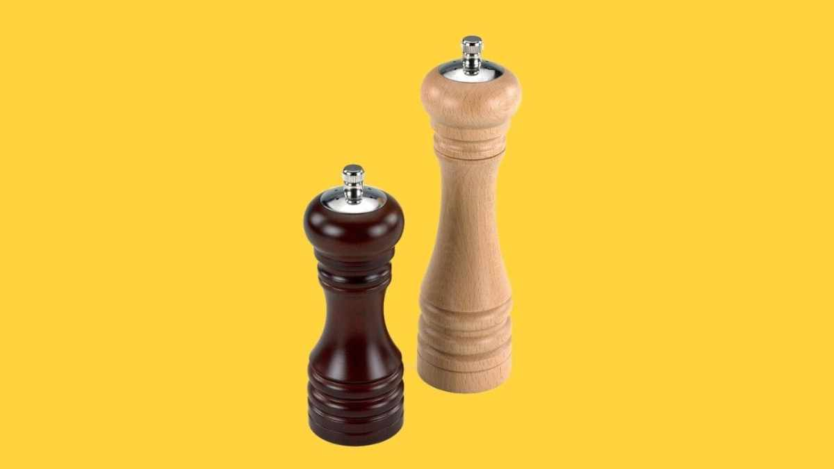 Holar 2 in 1 Wood Pepper Mill and Salt Shaker-cover