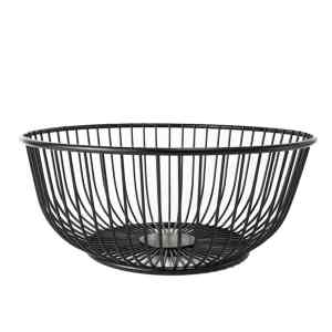 BASK-A Metal Wire Fruit Bowl Basket