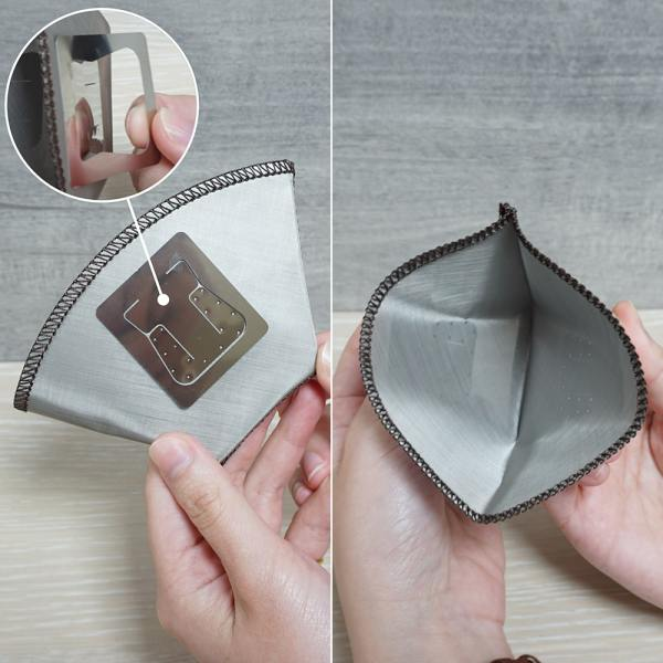 Holar - Coffee - Coffee Filter - PS-DC06 Reusable Foldable Stainless Steel Coffee Sector Dripper with Hanging Ear- 3_1