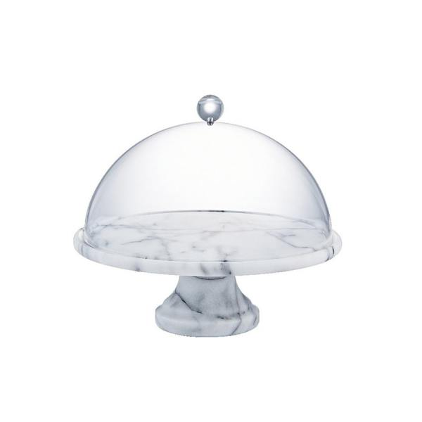 Holar MB-45 marble cake stand with lid