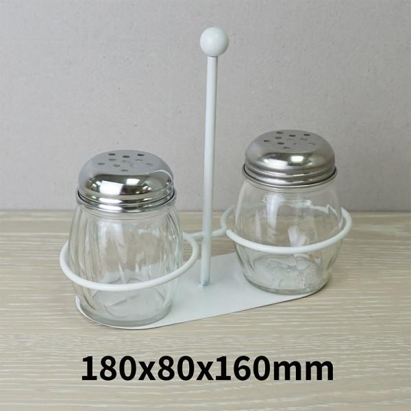 Holar - Salt Pepper Holder Stand Tray - Salt and Pepper Grinder Set Stand of 2 - WSD-A