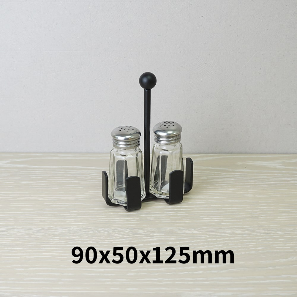 Holar - Salt Pepper Holder Stand Tray - Salt and Pepper Shaker Set Stand of 2 - WSD-P