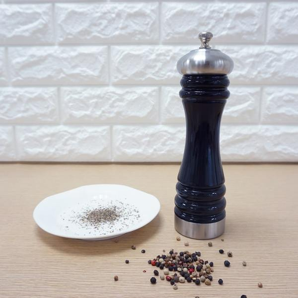 Holar - Salt and Pepper Mill Grinder - Manual Wood and Stainless Steel - ALSS - 7