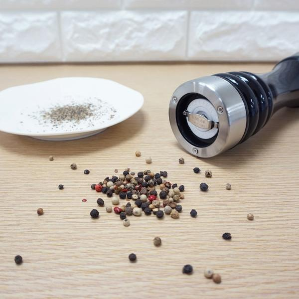 Holar - Salt and Pepper Mill Grinder - Manual Wood and Stainless Steel - ALSS - 8