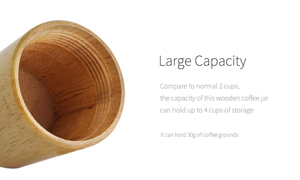 Holar designed wood coffee grinder capacity_CMA19B