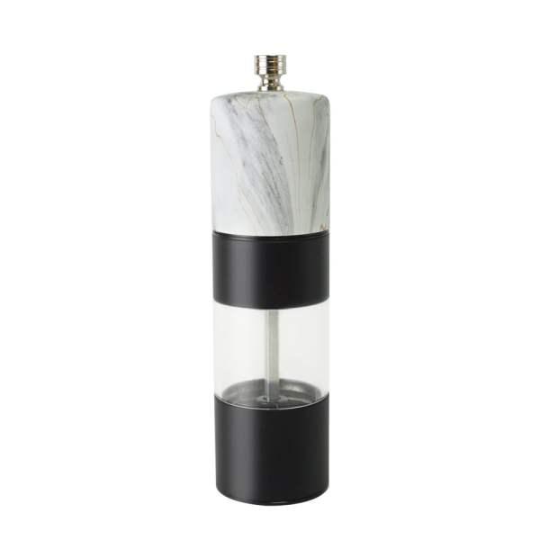 Holar marble and matt black metal salt and pepper mill-SSAMP-WT
