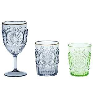 EL-36 40 41 Embossed Drinking Glasses