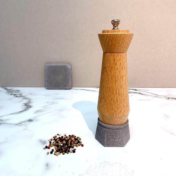 Holar wood and concrete salt pepper mill-5