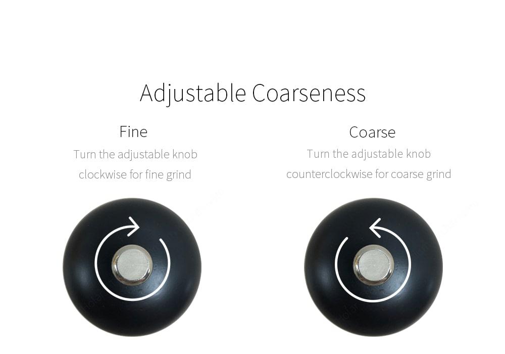 How to adjust coarseness of salt pepper grinders
