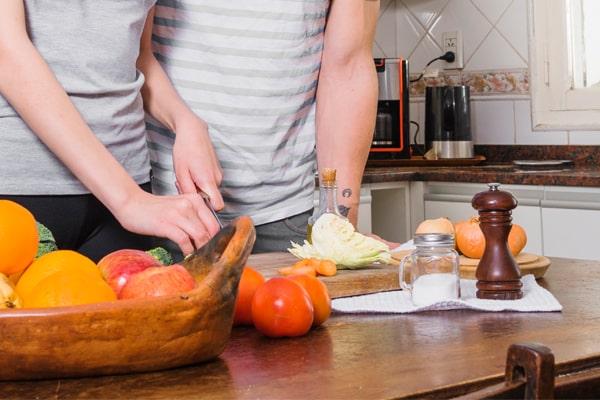 cook with salt and pepper grinder