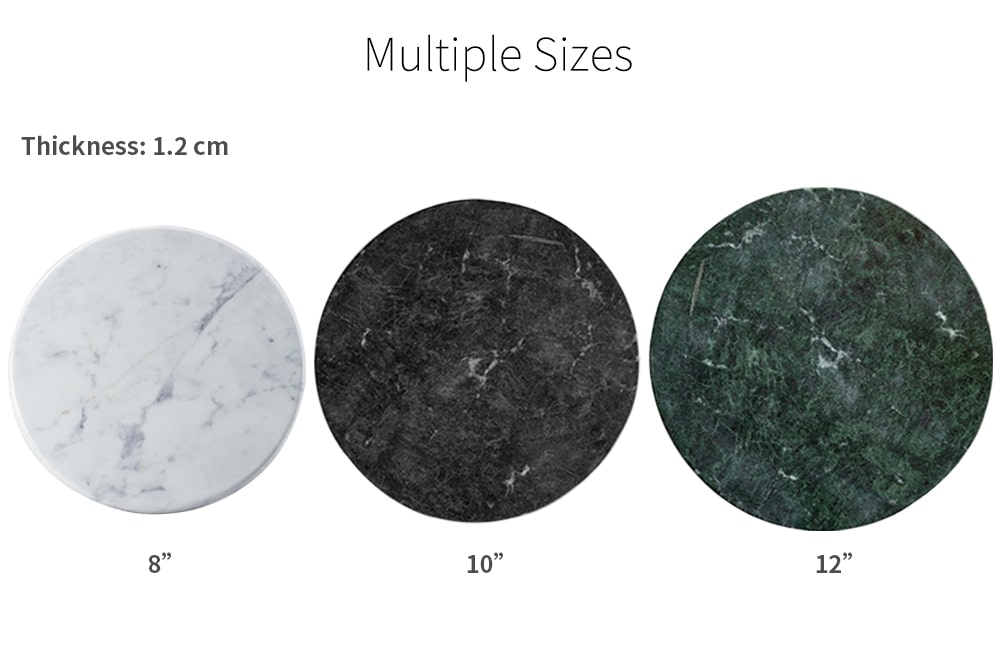 dimension of Holar MB-07 marble round plate