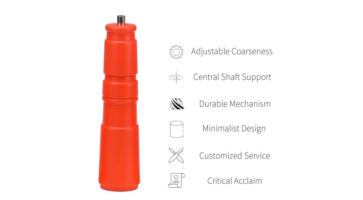 feature of orange salt and pepper grinder_HL-81