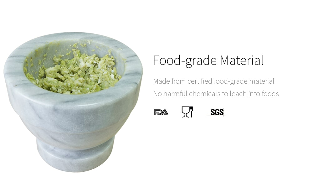food grade- Holar marble mortar and pestle