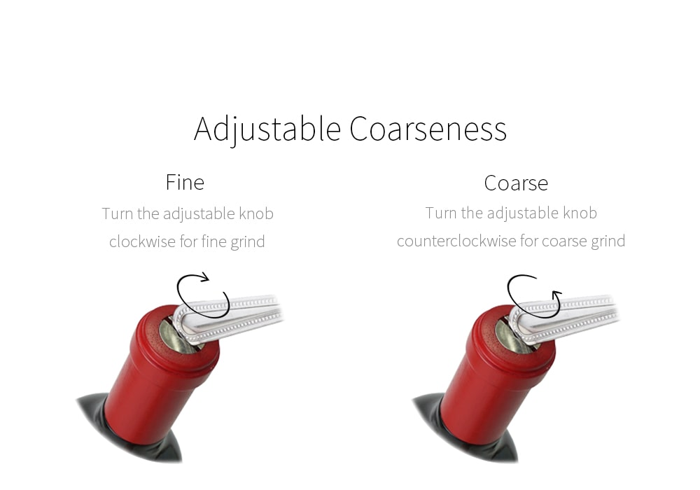how to adjust wine bottle grinder coarseness