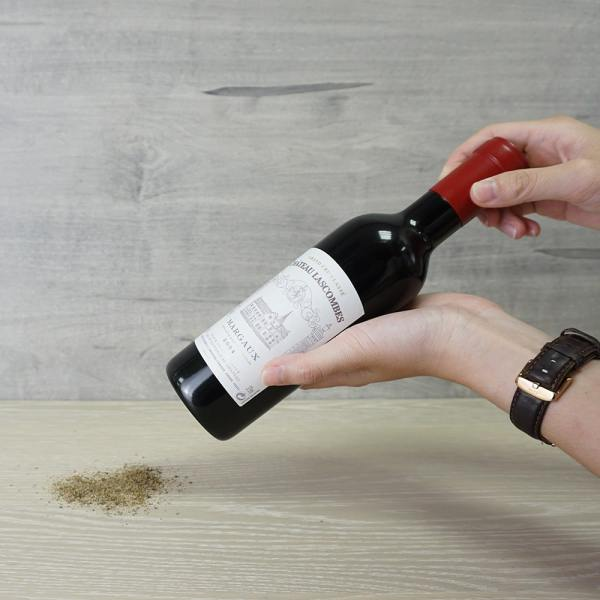 how to use Holar red wine bottle shaped salt pepper mill set_RW_WW