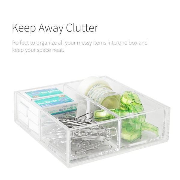 keep away clutter-Holar acrylic organizer