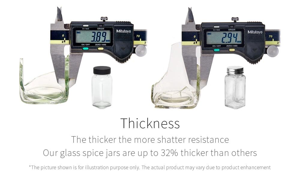 thick durable glass_Holar glass spice jar
