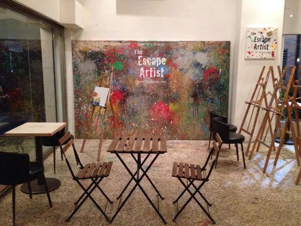 The escape artist, una cafetería en Taipei para pintar