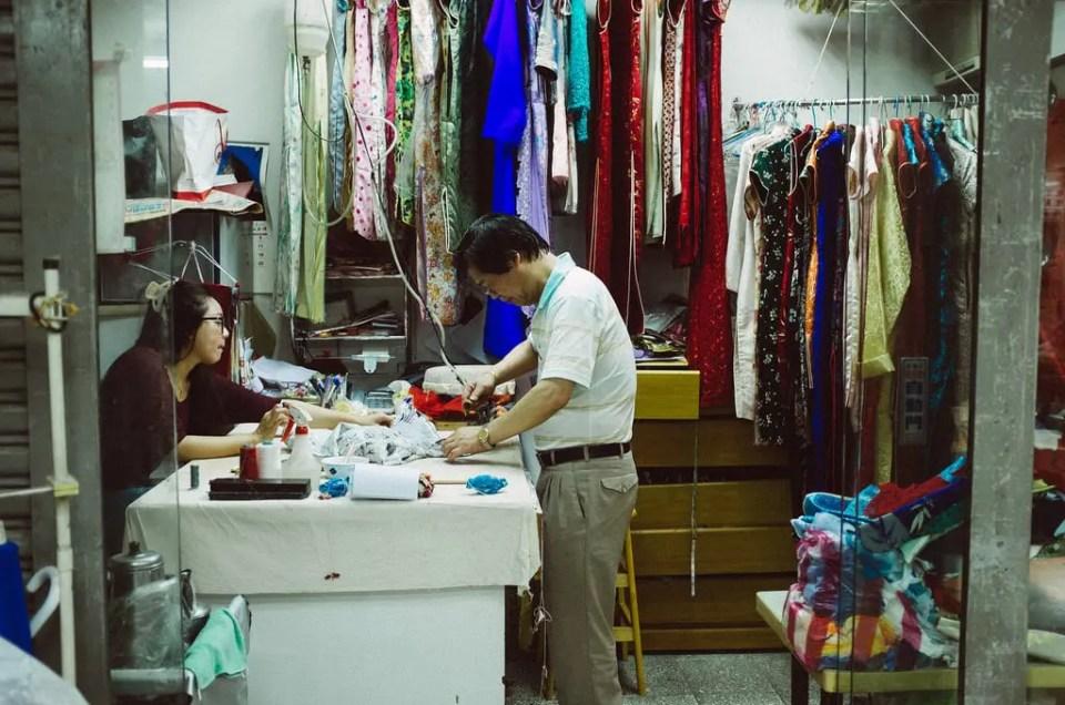 Una mañana en el mercado de las telas de Taipei