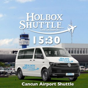 15:30 Shared Shuttle to Cancun Airport from Holbox Island