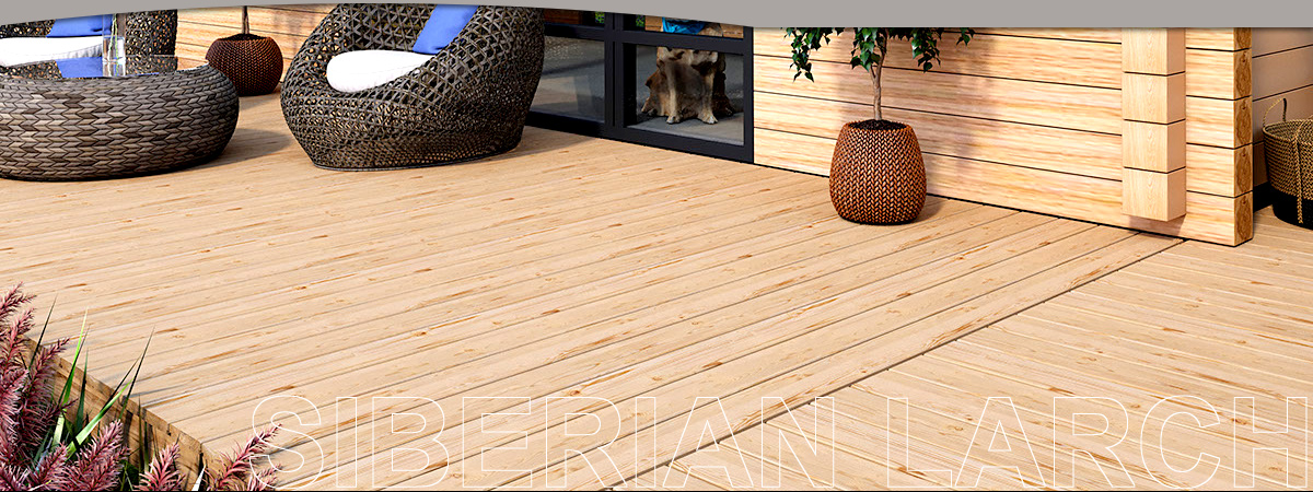 Larch Decking Boards