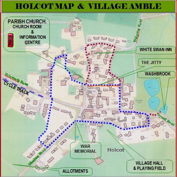 Village walks map March 2013