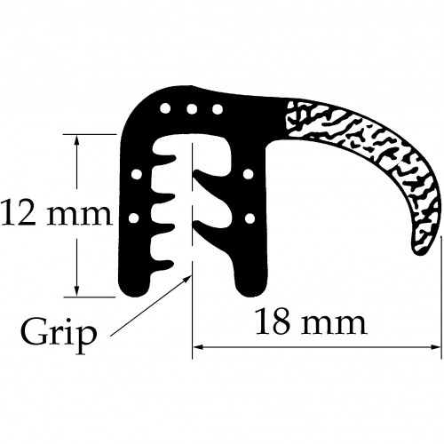 Side Tube Seal for vintage and classic cars