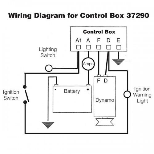 Lucas NCB101 37290 RB106 control box. Reproduction.