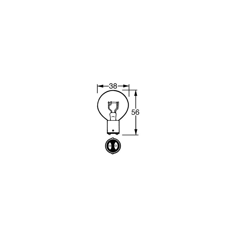 12v Bulb Double Contact 36/36w LLB171 for vintage and