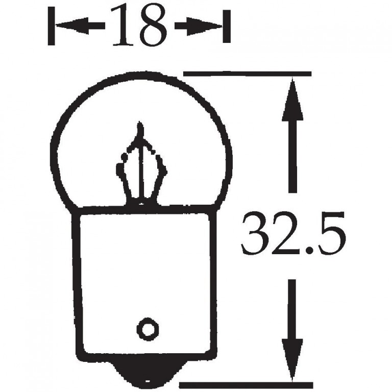 6v 5w Single Contact Bulb BA15s Cap LLB205 for vintage and