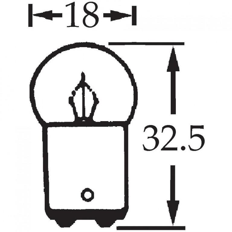 12v 5w Double Contact Bulb BA15d Cap LLB209