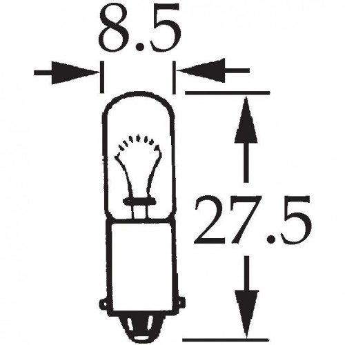 6v 4w Single Contact Bulb BA9s Cap LLB293 for vintage and