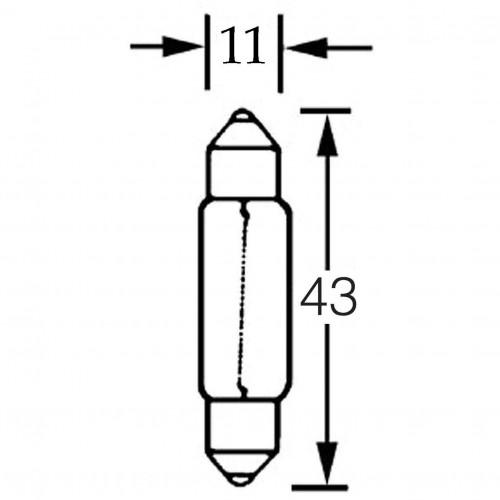 Length 43mm-12v 5w