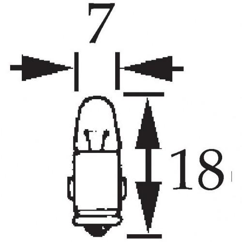 12v 2w Bulb BA7s Cap Single Contact