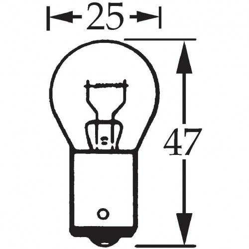 6v 21w Single Contact Bulb BA15s LLB317 for vintage and