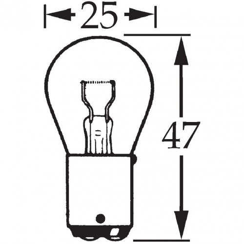 12v 21w Double Contact Bulb BA15d Cap for vintage and